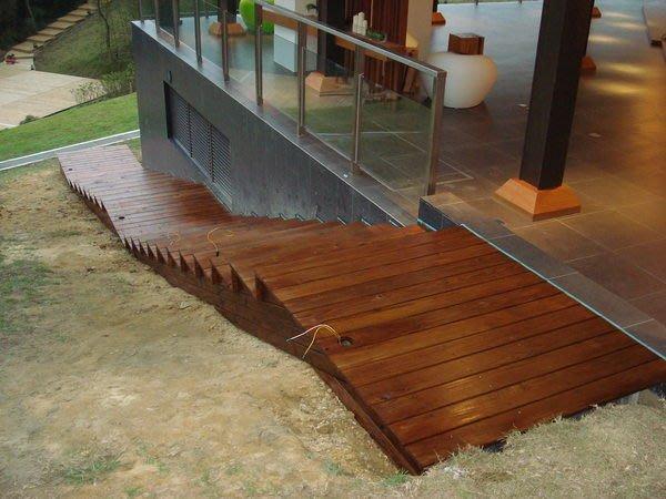 (木作工程館)南方松木棧道、木平台、木圍籬、木樓梯