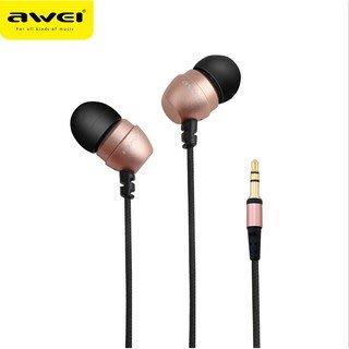 【保固最久 品質最佳】Awei 用維 Q8i 入耳式 耳機 新品線控 耳機 金屬立體聲 耳機(金)