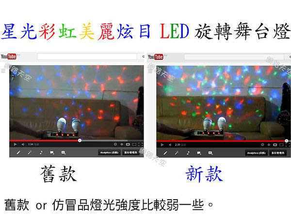 星光彩虹一號美麗炫目LED旋轉舞台燈泡 現有燈座(E27螺口燈座)直接插上隨插即用 jet ktv