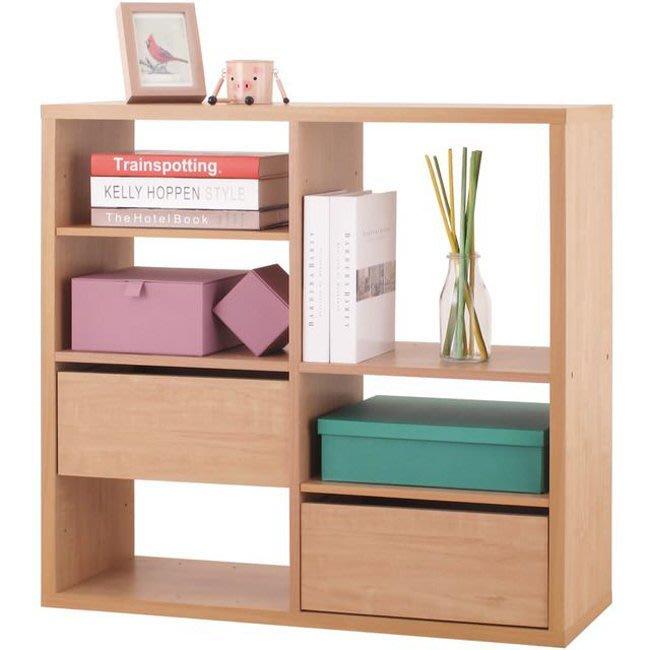 辦公室【居家大師】2x2格加厚收納櫃(附抽屜&活動板) 置物櫃 櫃子 玄關櫃 隔間櫃 書櫃 書架 展示櫃 2084NA