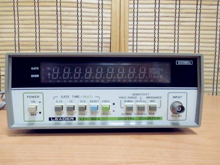 康榮科技二手測試儀器領導廠商Leader LDC824 520MHz Digital Counter