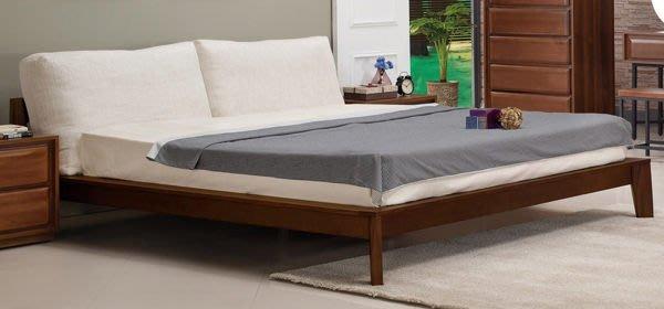 【DH】商品貨號N525-3商品名稱《庫斯》6尺淺胡桃造型雙人床架(圖一)不含床頭櫃。備有五尺另計。主要地區免運費
