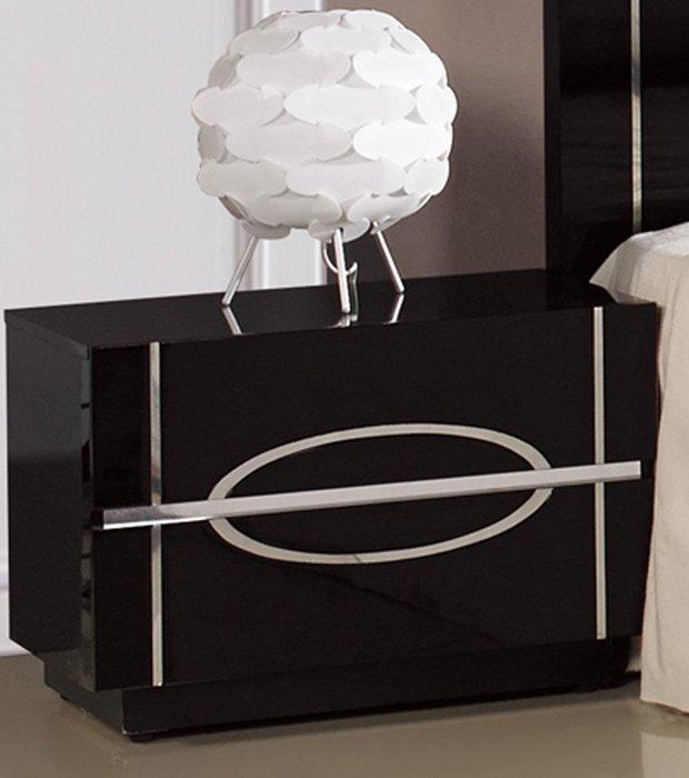 【DH】商品貨號N517-1《【月亮】》黑色玻璃亮烤漆雙抽床頭櫃(圖一)。備有白色系。台灣製,可訂做。亮麗雅緻精品傢飾