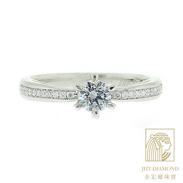 【JHT 金宏總珠寶/GIA專賣】婚戒/鑽戒 女鑽石戒台 (不含搭配主鑽)JRC047