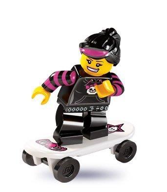 現貨【LEGO 樂高】積木/ Minifigures人偶系列: 6代人偶包抽抽樂 8827 | 滑板女孩+滑板
