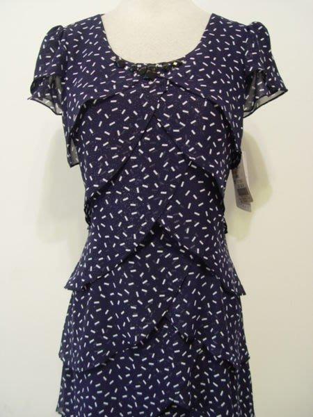 夏季喜宴穿禮服~藍色金蔥紗蛋糕洋裝 ~俏麗《11號》水噹噹中大尺碼