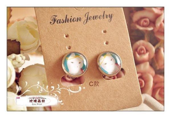 玫瑰森林-- ☆°* 精選 獨特~ zakka風 森林 童話可愛貓咪夾式耳環(可做耳針)特價