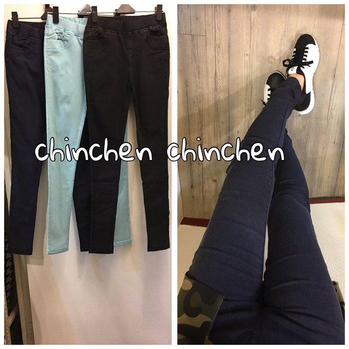 CHiNCHeN 超顯瘦款來囉~擋深彈性好穿雪花造型牛仔直筒褲.窄管褲.內搭褲~三色(黑,深藍,淺藍)(s~xxl)