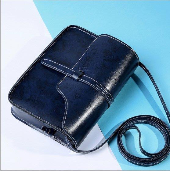 [[噗噗Store]] 深藍色---新款女包 斜肩包 復古風 迷你 包包手提包 單肩包 錢包 大方包小方包 側背包