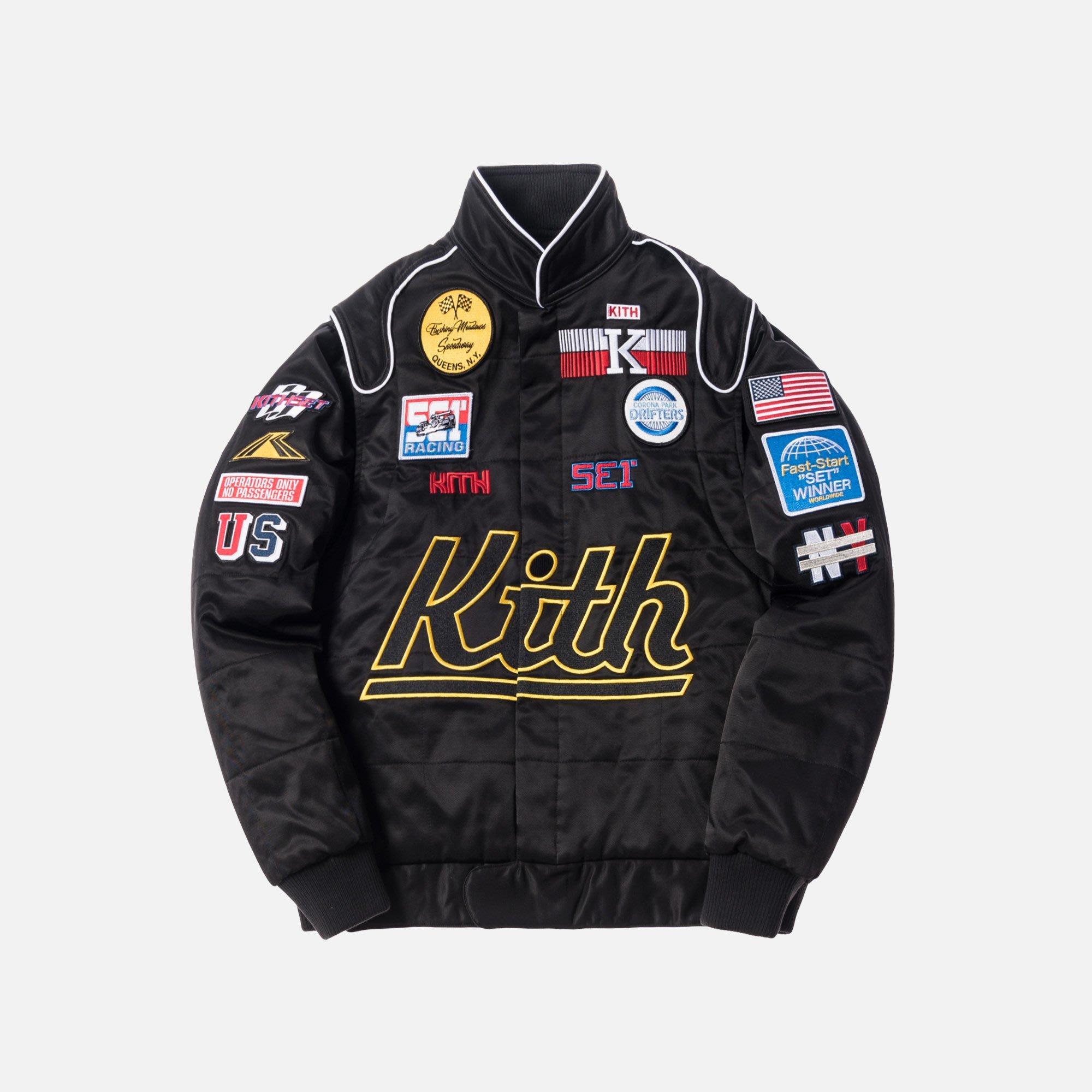 KITH RACING JACKET 黑L 全新  價錢可議