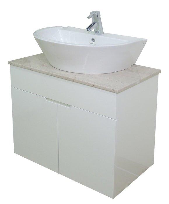 HCG 和成面盆~DR~75A~5513~和成天然石檯上盆浴櫃組75公分