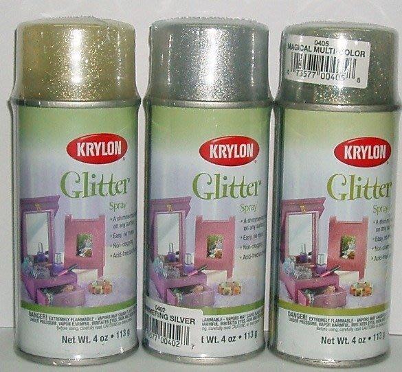 【( *^_^* ) 新盛油漆行】美國KRYLON開朗金蔥噴漆 美勞 彩繪 美工 傢俱 造型 機車  裝飾品