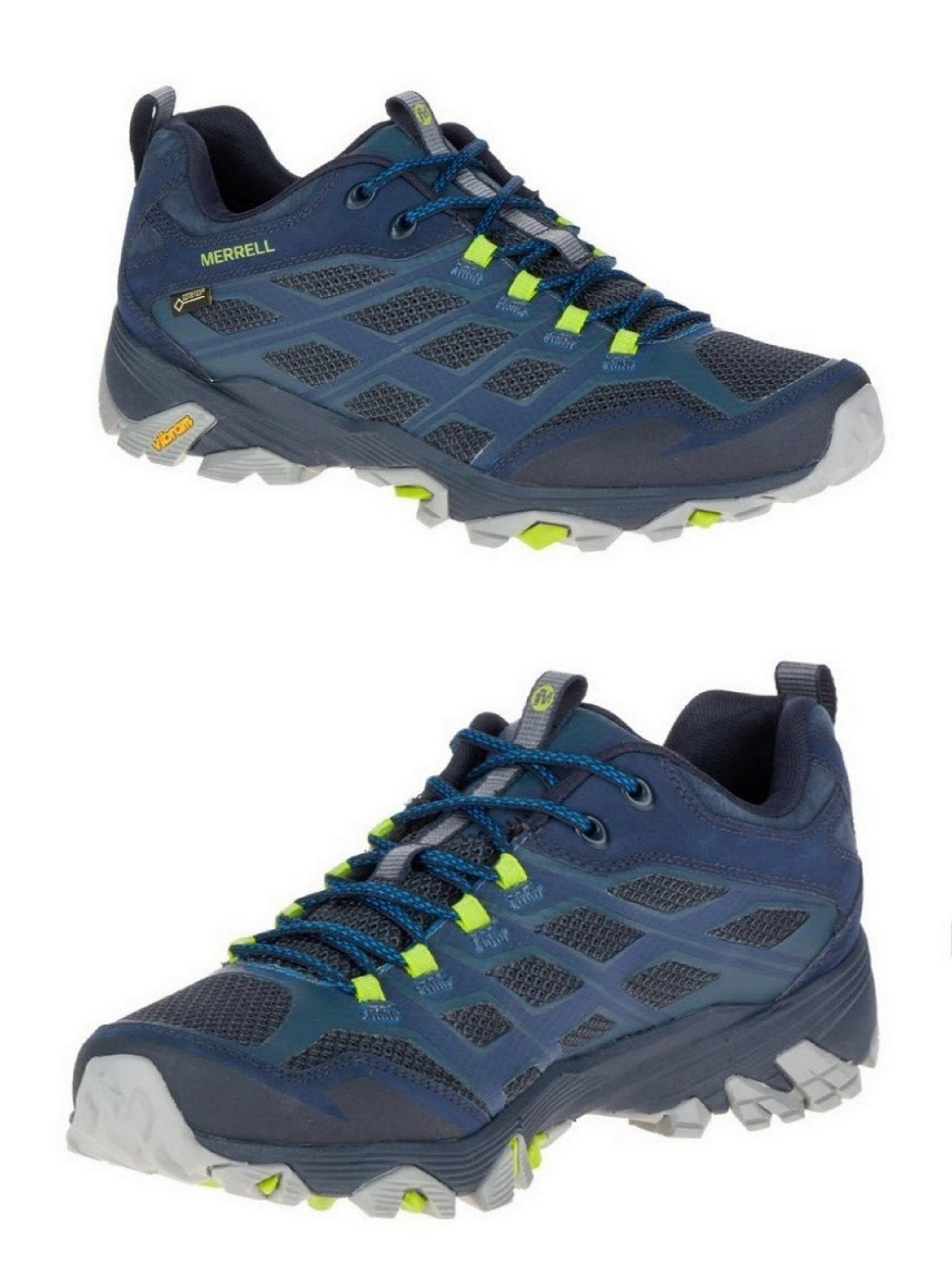 Runway.tw嚴選【美國MERRELL】男 戶外多功能 登山鞋 MOAB FST GORE-TEX® 藍色35767