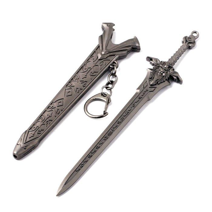 游戲wow魔獸世界周邊巫妖王獅子頭劍模型帶刀鞘(贈送刀劍架)