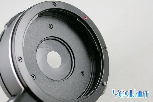[ 葉王工坊 ] Canon EF鏡頭轉Olympus or Panasonic M4/3機身轉接環  ( 可調光圈 )
