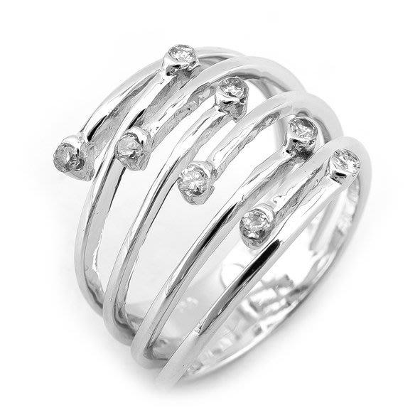 【JHT 金宏總珠寶/GIA鑽石專賣】0.20ct天然鑽石造型戒指/材質:18K/(D000179)