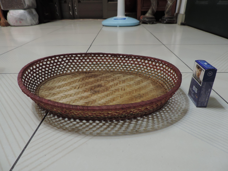 禎安丹雜藝~早期ˋ竹編織盤 竹篩 竹柑 竹批 茶葉篩 彩繩編織竹盤 製物籃