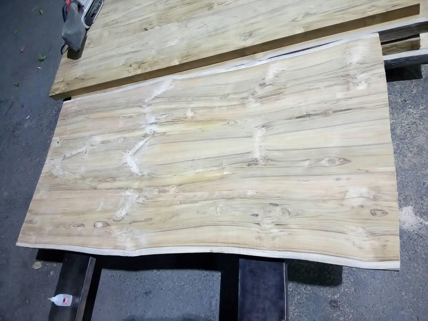 台灣柚木拼接原木桌板  現貨販售中