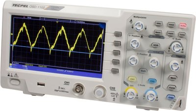 TECPEL 泰菱 》OSD-1102 桌上型100MHz示波器 雙通道 取樣1GS/s 10K記憶  螢幕7吋