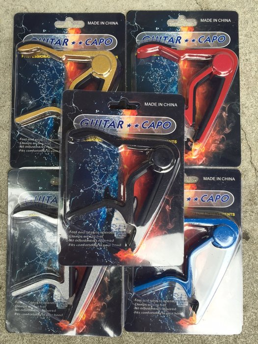 【六絃樂器】全新 Dunlop型 民謠吉他移調器 / 黑 銀 紅 金 藍 5色