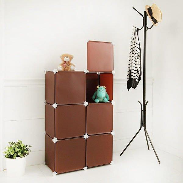 收納櫃 櫃子【居家大師】繽紛樂6格6門收納櫃玩具收納電腦桌茶几桌電視櫃收納櫃全身鏡BR