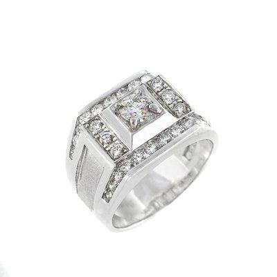 【JHT 金宏總珠寶/GIA鑽石專賣】0.50ctGIA天然鑽石男戒/D-VS1/材質:PT900(A5238)