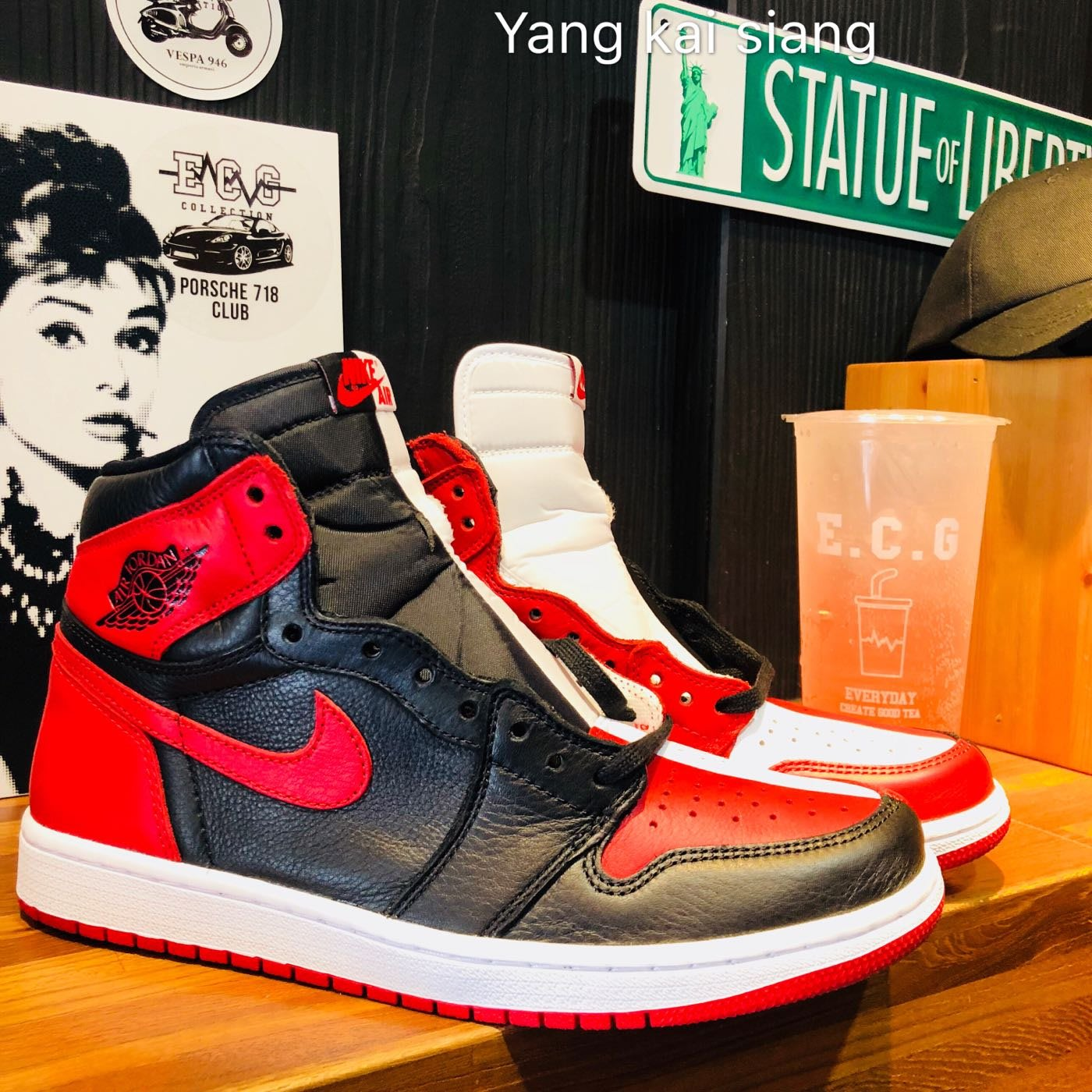 JORDAN 1 retro homage to home 陰陽  黑紅 芝加哥 bred