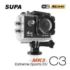 (送32G卡【皓翔】速霸 C3 三代-MK3 4K/1080P超高解析度 WiFi 極限運動 機車防水型行車記錄器