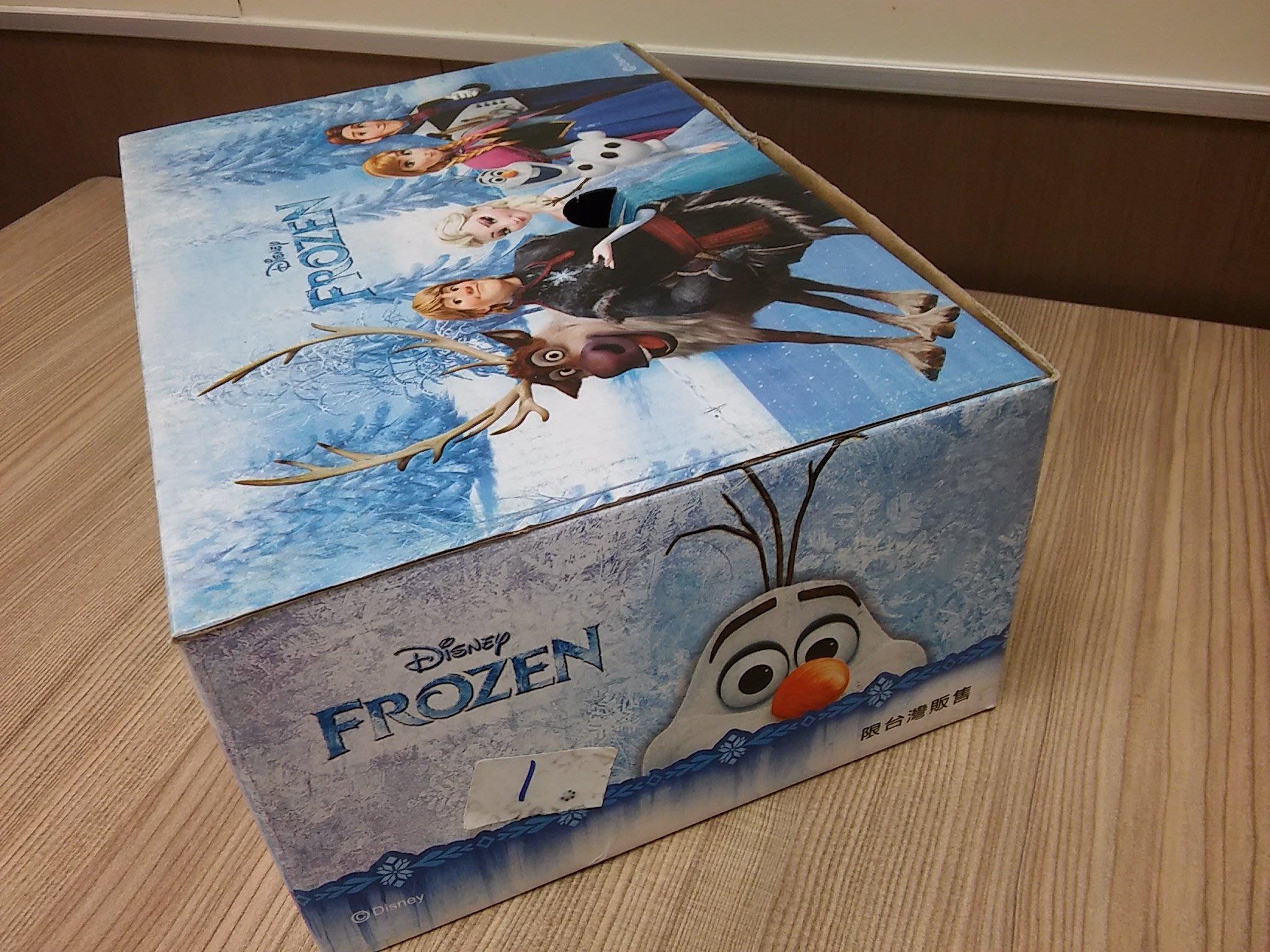 1318] 迪士尼冰雪奇緣Frozen #170 童鞋盒包裝盒/球鞋紙盒(只有盒子,沒有物品)