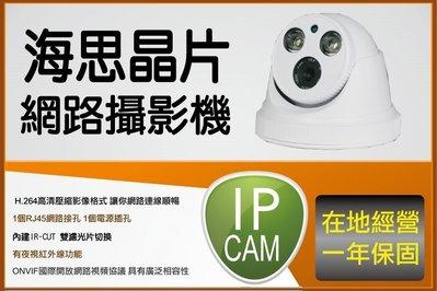 IPCAM 海思晶片 1080P 室內型網路攝影機 300萬畫素鏡頭 可取 雄邁主機 皆可以整合 onvif 一年保固
