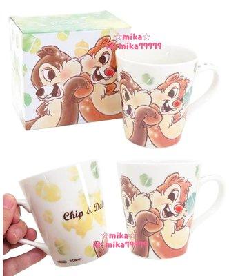 ☆Mika☆ 日本正版 迪士尼 奇奇蒂蒂 陶瓷 馬克杯 杯子 280含運◎☆