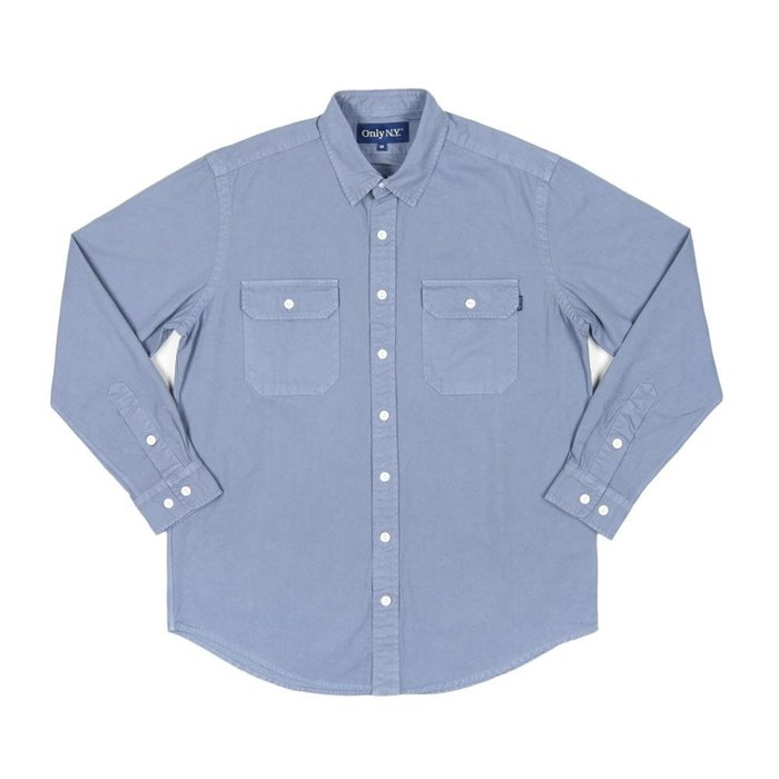 《Nightmare 》ONLY NY Washed Cotton Beach Shirt Bay Blue