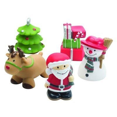 ♡NaNa Baby♡ 美國Elegant Baby 洗澡玩具5入組- 耶誕老公公的禮物 #40571