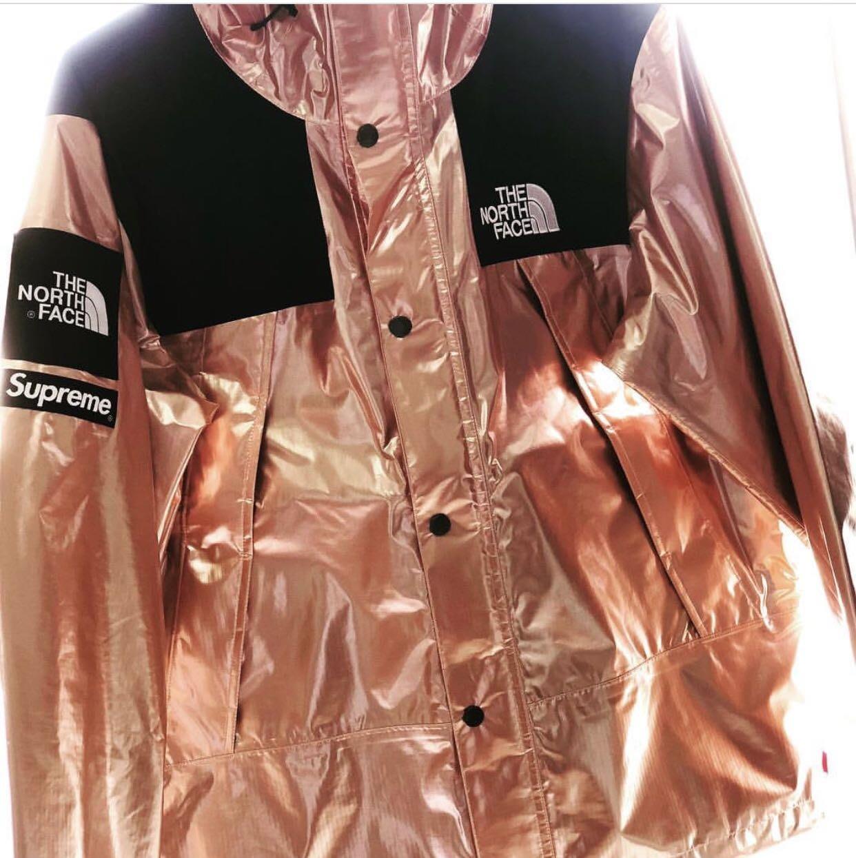 Supreme X North Face Tnf Metallic Jacket 2018 Rose Gold Yahoo香港拍賣