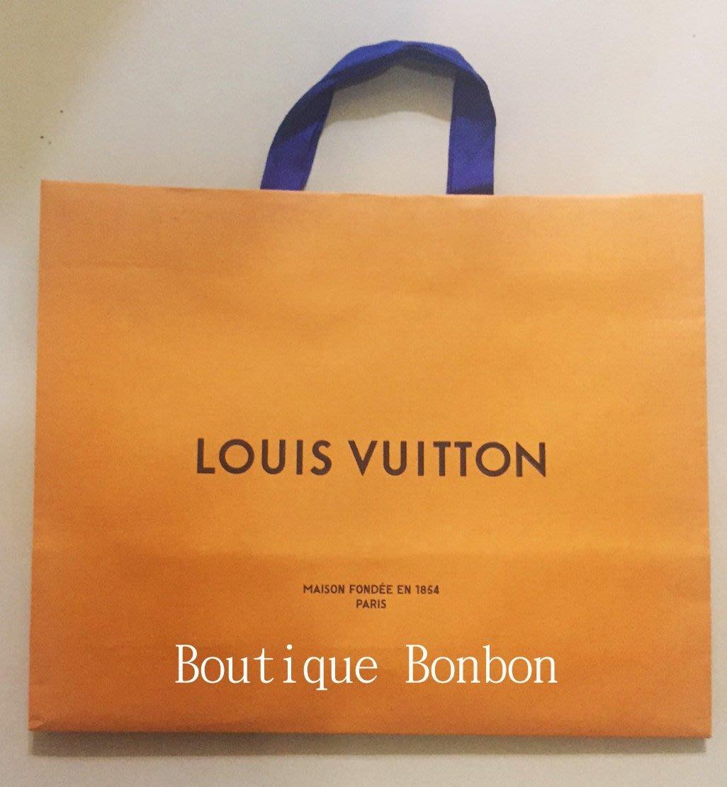 《Boutique Bonbon》LV LOUIS VUITTON 横式大紙袋 原廠紙袋48.8x23x41cm~現貨