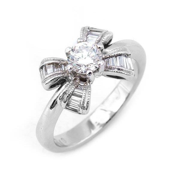 【JHT 金宏總珠寶/GIA鑽石專賣】0.35ct天然拚鑽造型戒/材質:14K(D000189)