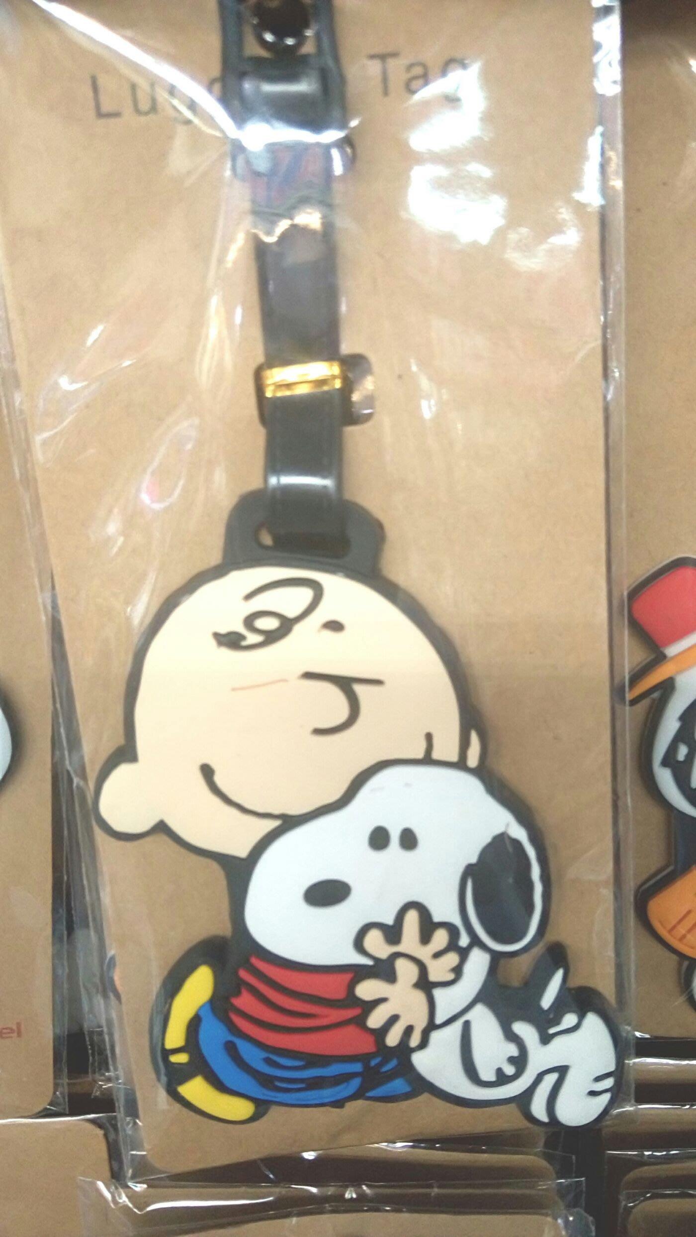 行李吊牌- 查理布朗 史努比 Snoopy luggageTag 名牌套 行李箱 書包 識別 掛牌 吊飾 紀念品