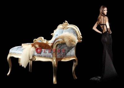 [紅蘋果傢俱] GT-006 皇廷.凡爾賽系列 歐式  造型椅 法式 休閒椅 小型貴妃椅