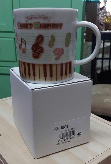 美生活館 日本創意商品 陶瓷 音樂 馬克杯 (A) 日本製 水杯 咖啡杯 餐廳 店面 自用收藏民宿鄉村 日雜 Zakka