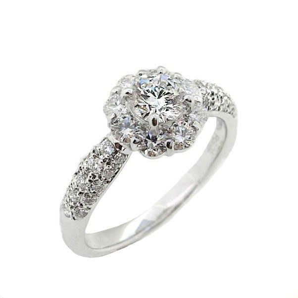 【JHT 金宏總珠寶/GIA鑽石專賣】0.511ct天然鑽石線戒/E-SI2/材質:PT900(JB42-A01)