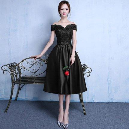【曼妮婚紗禮服】3件免郵~結婚敬酒禮服 修身顯瘦中長款小禮服 CF089