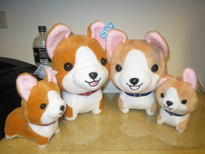 ///可愛娃娃///~中型11吋可愛的Q版萌萌柯基犬~威爾斯柯基犬絨毛娃娃~2款---約31公分