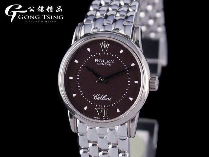 【公信精品】勞力士(ROLEX) 徹里尼 6111 原裝白K金女錶 白K金錶帶