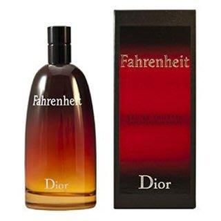 Dior Fahrenheit 迪奧 華氏溫度 男性淡香水 100ml【小7美妝】