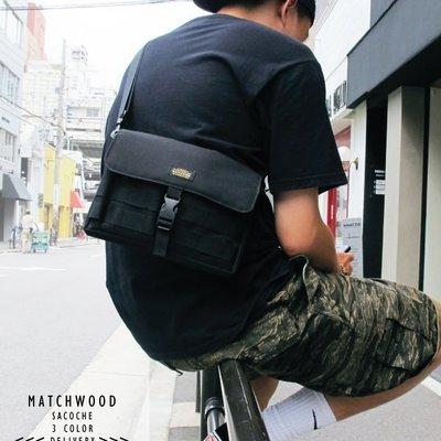 【Matchwood直營】Matchwood Sacoche 斜背小物袋 全黑款 側背肩背手拿小包 防潑水 限時預購優惠