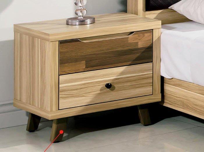 【DH】商品貨號A245-5商品名稱《瑪莎》23CM雙抽栓木床頭櫃(圖一)台灣製.可訂做.主要地區免運費