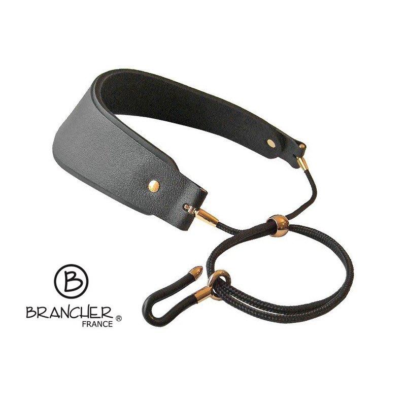 【現代樂器】現貨!法國Brancher Crescent Strap 加寬型 裸銅款 L號 薩克斯風背帶 吊帶 豎笛背帶