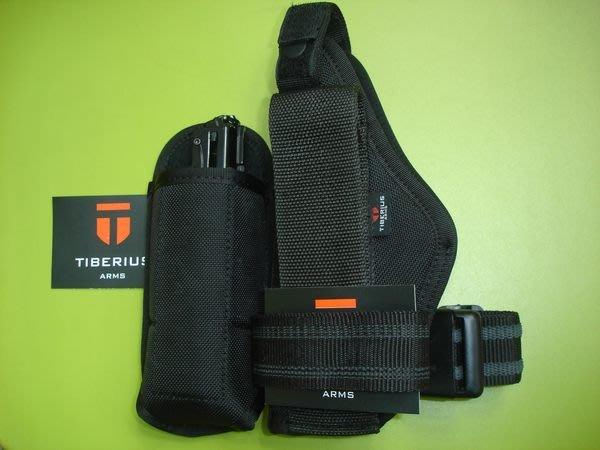 ( 昇巨模型 ) - TIBERIUS T8.1 - 鎮暴槍 / 漆彈槍 - 原廠備用彈匣 + 戰術腿掛槍套 + 彈匣套