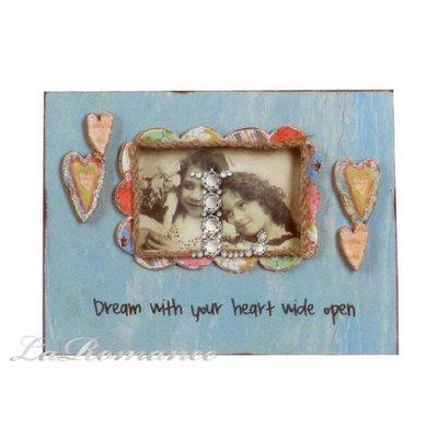 【Creative Home】Heart & Home 心戀家居系列童趣木製相框 - 藍