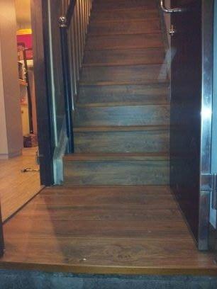 風格木地板~木地板作品~超耐磨手刮系列~平舖施工~樓梯施工~時尚復古風!